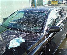 (冬+晴)×洗車 → カピカピ ヽ(`Д´)ノ