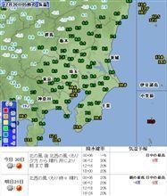 今日の天気は・・・o(▼_▼θ