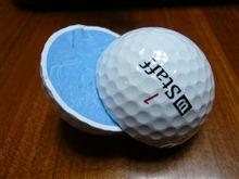 真っ二つになったゴルフ!!。
