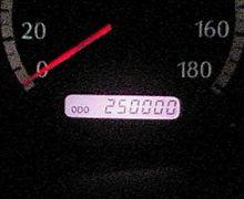 25万キロ到達!(笑