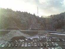 今朝の初雪