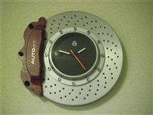 ブレーキローター型時計