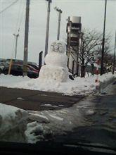 雪も疲れた?