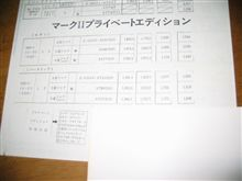 X61前期マークⅡカタログその4