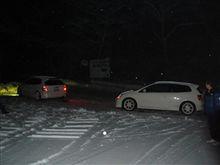 雪降ったー!!