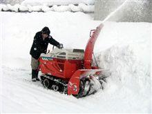 除雪機出動
