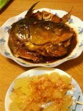 ブリのアラ炊き