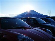 富士山に日が沈む時。。。