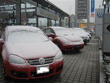雪でした!