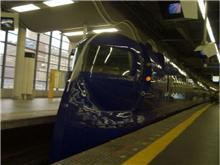 今日は電車を見に行きました。
