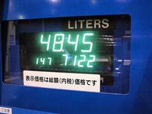 燃費の記録簿(96回目)