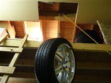 理科の実験!動滑車の原理で重さ半分で吊上げます。