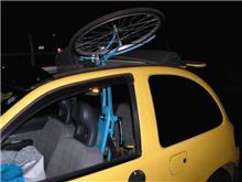 黄色いキャロルと 自転車