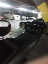 いつもの駐車場で