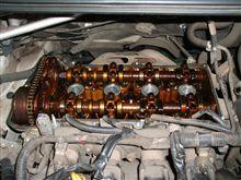 11万km走行の 1NZ-FEのエンジン内部