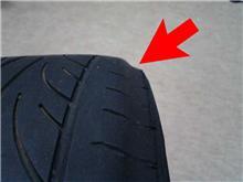 プレオのフロントタイヤの不可解な減り方