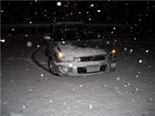 本日は雪なり・・・ABSのテスト中