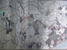 地元の古地図と篤姫の行列のルート