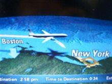 エールフランス機ビデオスクリーン