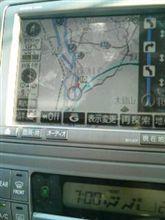 アルファードV 7:00には、大鰐弘前IC横通過