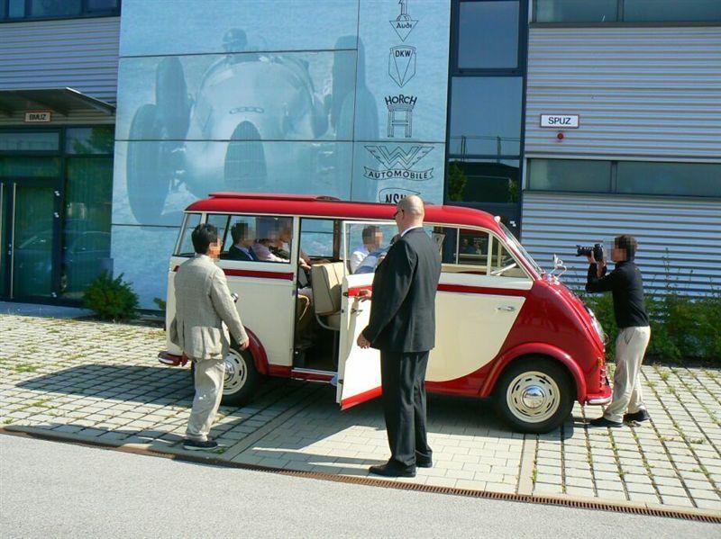 スーパーサプライズ この車でミュージアムまで送ってもらいました