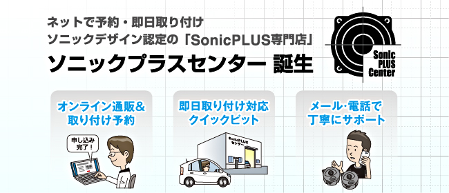SonicDesign / SonicPLUS Center ページへ