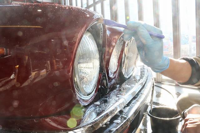 ジャガー デイムラーダブルシックス ガラスコーティング