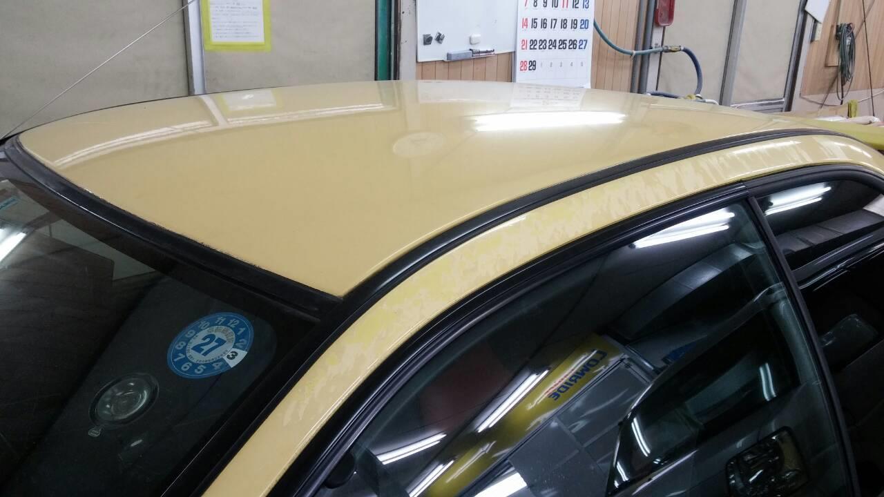 立川市の車の板金塗装修理工場 ガレージローライドのスバル インプレッサのオールペイント オールペン 全塗装 です。