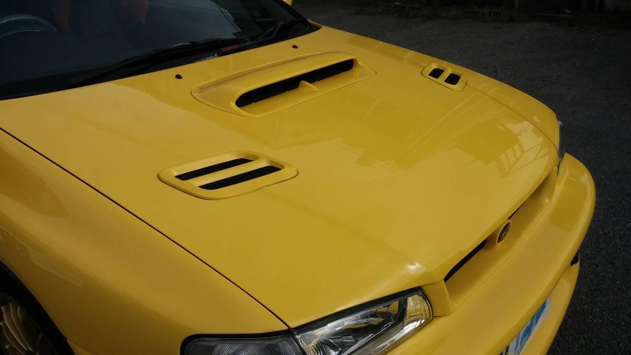 立川市の車の板金塗装修理工場 ガレージローライドのスバル オールペイント オールペン 全塗装 です。