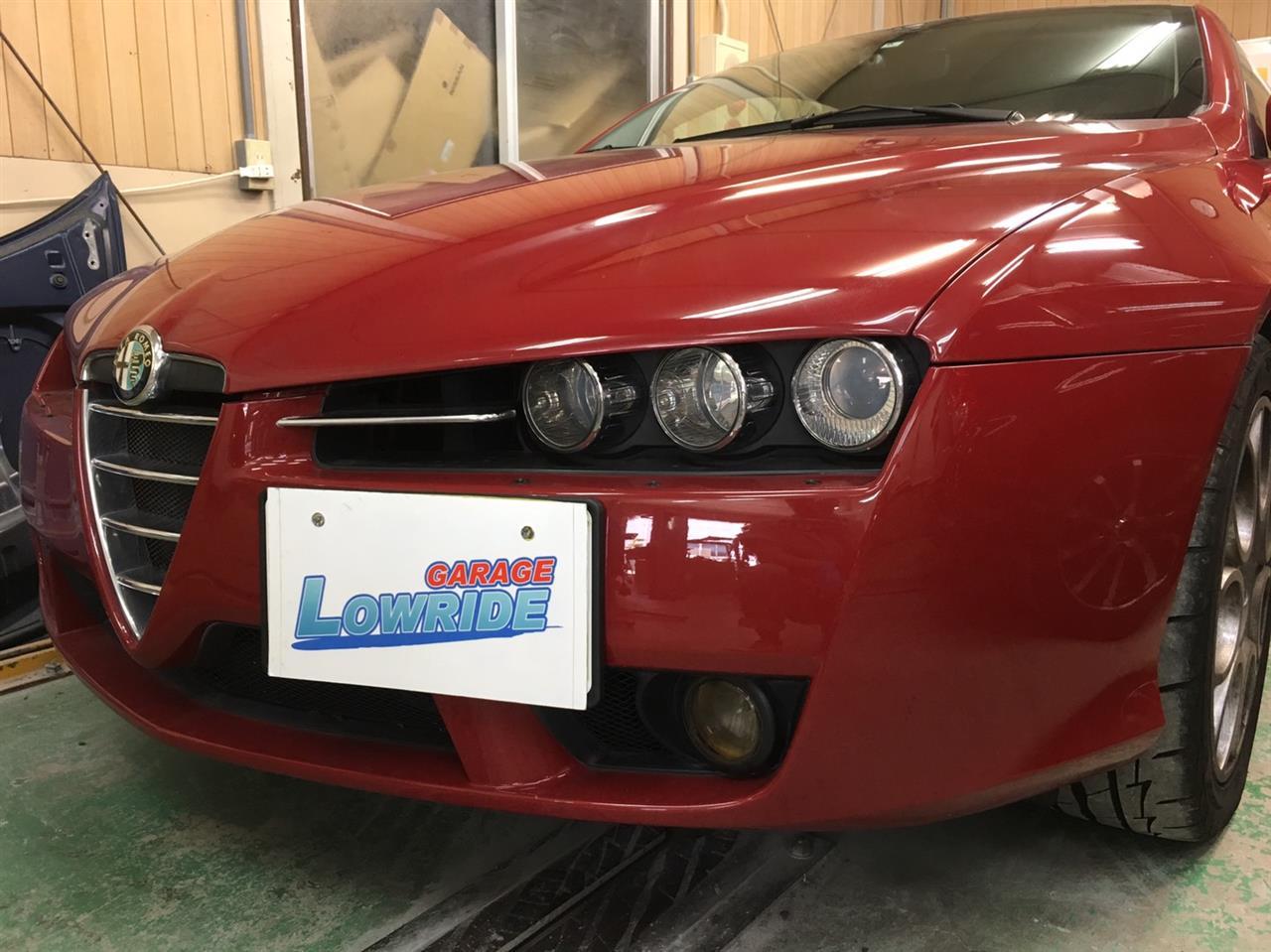 立川市の車の板金塗装修理工場 ガレージローライドのアルファロメオ ブレラの塗装劣化等キズ へこみ の板金 修理 塗装 です。