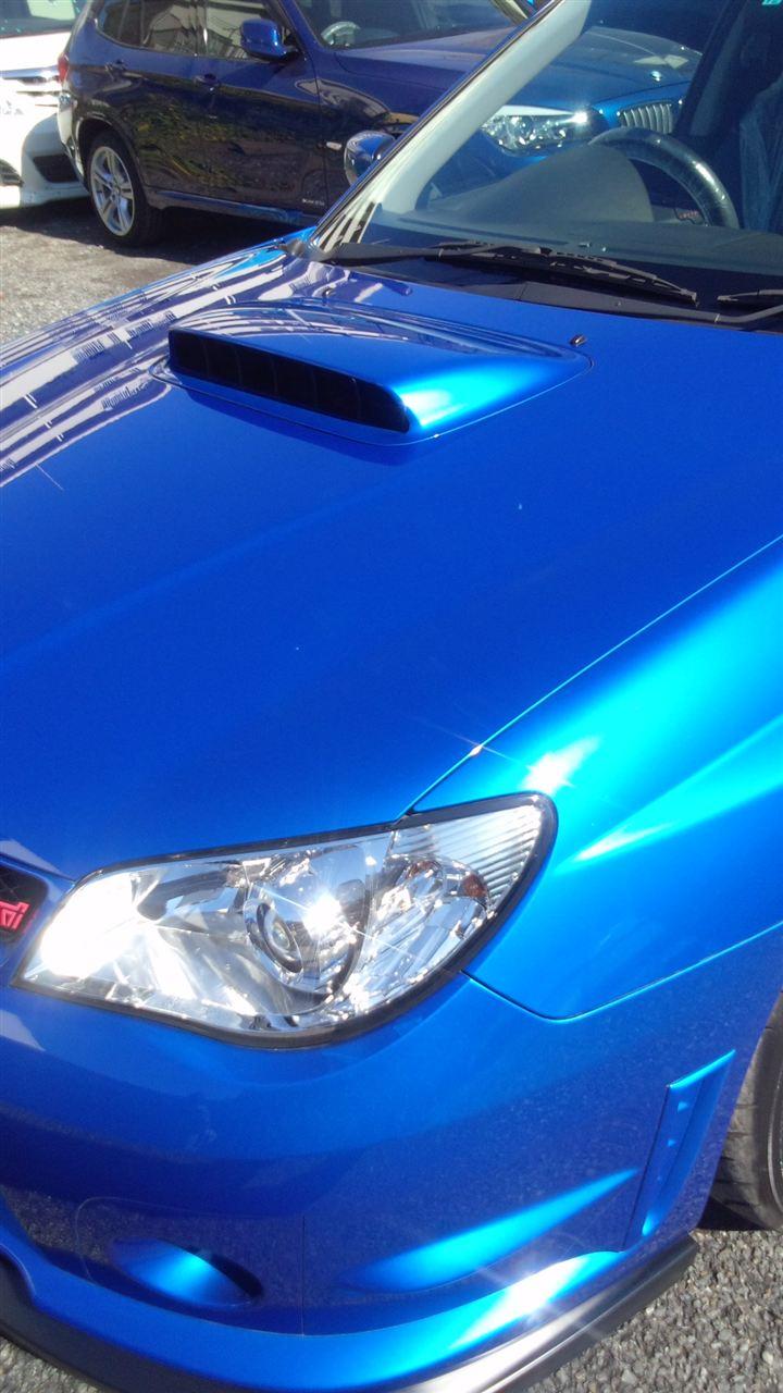 東京都立川市の車の板金塗装修理工場 ガレージローライドのスバル インプレッサのボディー磨き ジーゾックスリアルガラスコーティング艶プラス です。