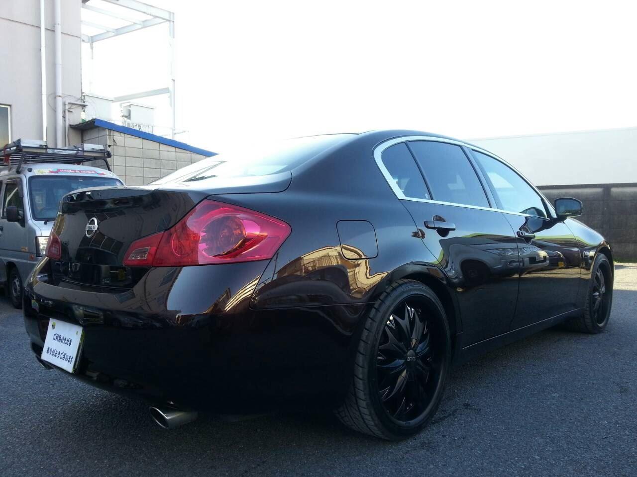 東京都立川市の車の板金塗装修理工場 ガレージローライドの日産 スカイライン オールペイント オールペン 全塗装 です。
