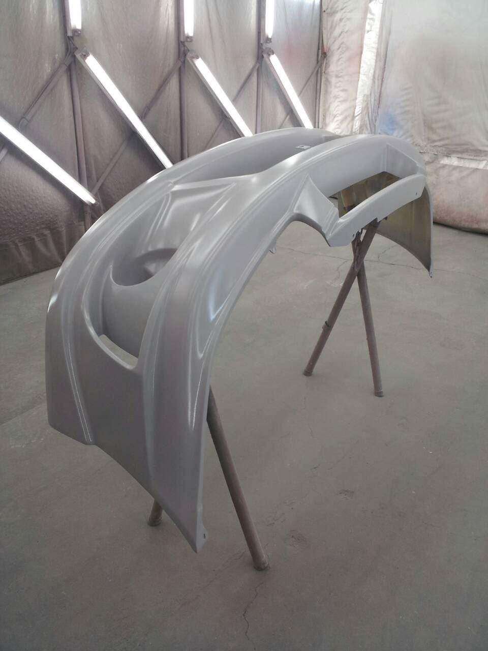 東京都立川市の車の板金塗装修理工場 ガレージローライドのトヨタ スターレットのエアロパーツ 塗装  取付 です。
