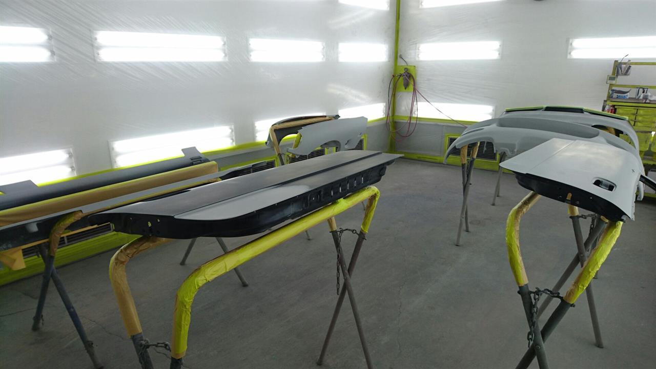 立川市の車の板金塗装修理工場 ガレージローライドのスズキ カプチーノ オールペイント オールペン 全塗装 です。