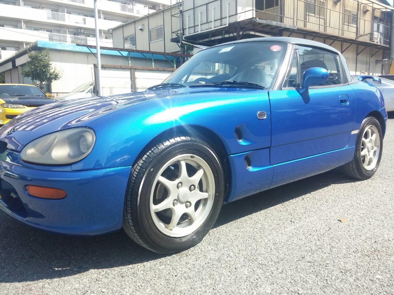 東京都立川市の車の板金塗装修理工場 ガレージローライドのスズキ カプチーノのオールペイント オールペン 全塗装 です。