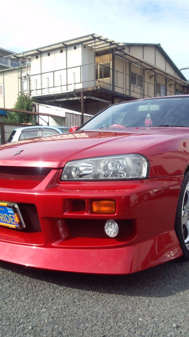 東京都立川市の車の板金塗装修理工場 ガレージローライドの日産 スカイライン のオールペイント オールペン 全塗装 です。