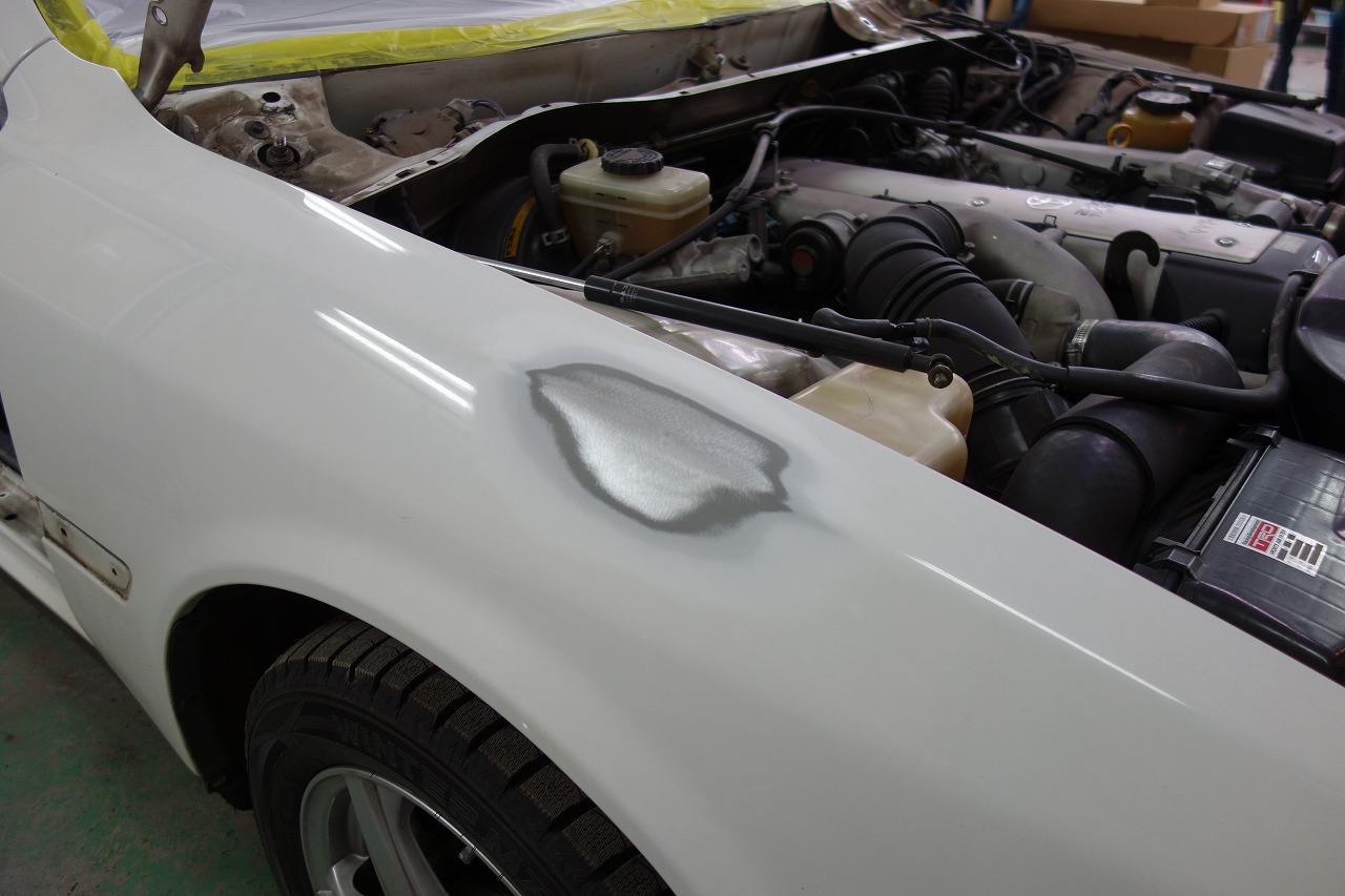 立川市の車の板金塗装修理工場 ガレージローライドのオールペイント オールペン 全塗装です。