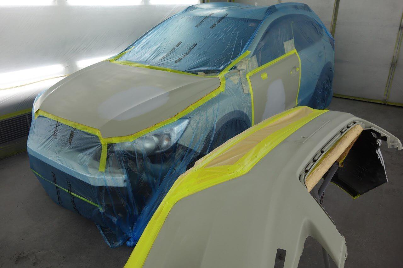 立川市の車の板金塗装修理工場 ガレージローライドのスバル XVの自家補修・自家塗装の板金 修理 塗装等です。