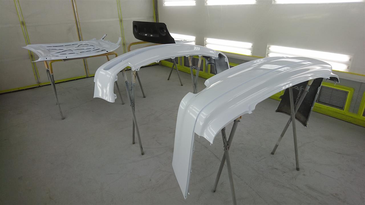 立川市の車の板金塗装修理工場 ガレージローライドのトヨタ アリストのオールペイント オールペン 全塗装です。