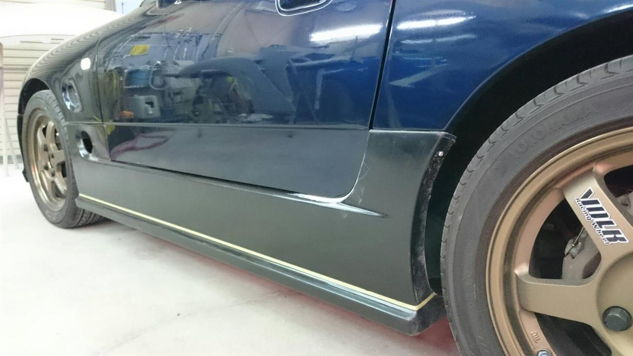 立川市の車の板金塗装修理工場 ガレージローライドのスズキ カプチーノのオールペイント オールペン 全塗装 です。