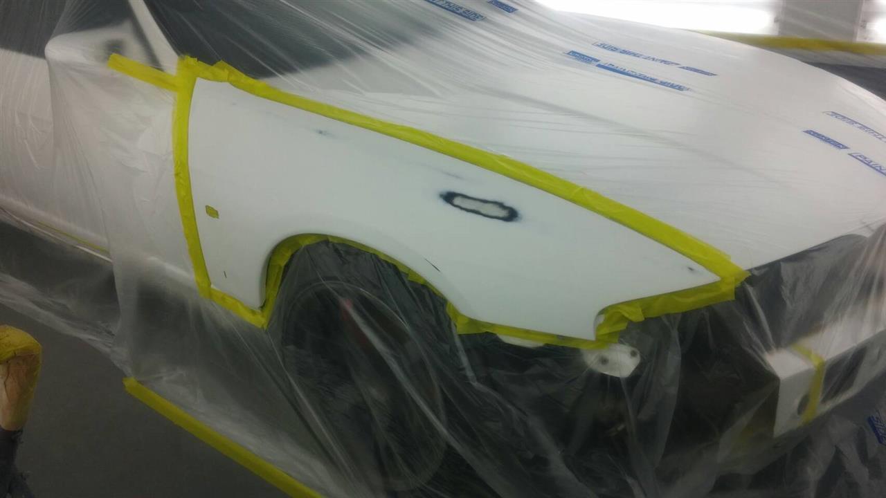 立川市の車の板金塗装修理工場 ガレージローライドの日産スカイラインのエアロパーツ塗装・取り付け等です。