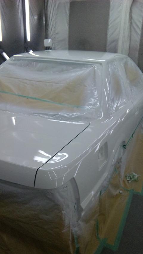 東京都立川市の車の板金塗装修理工場 ガレージローライドのトヨタ ソアラのオールペイント オールペン 塗装 です。