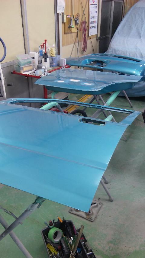 東京都立川市の車の板金塗装修理工場 ガレージローライドのスズキ ワゴンRのオールペイント オールペン 塗装 です。