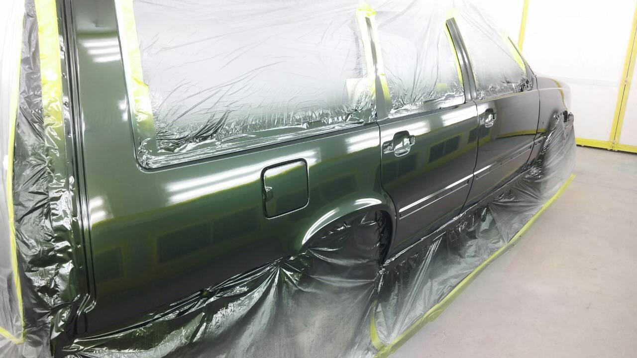 ボルボ850GLE いたずらキズ修理・塗装