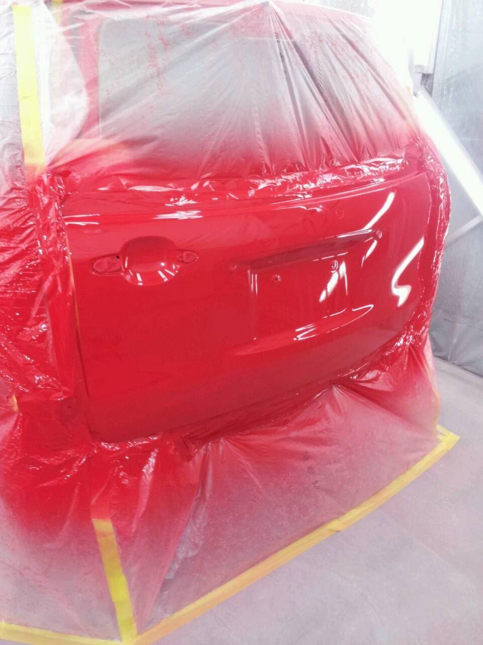 東京都立川市の車の板金塗装修理工場 ガレージローライドのトヨタ ラウムのリヤ回り・前まわりのキズ へこみ の板金 修理 塗装 です。