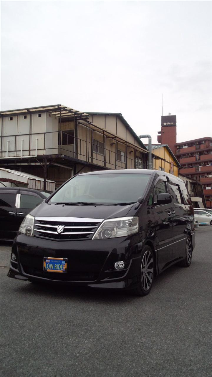 東京都立川市の車の板金塗装修理工場 ガレージローライドのトヨタ アルファードのボディー磨き&ウェルムガラスコート です。