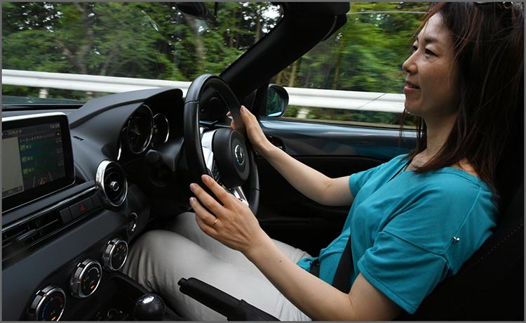 ロードスター(ND5RC)まるも亜希子さん運転