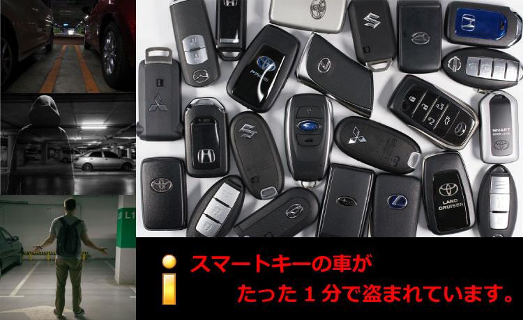 現在、日本車がたった1分で盗まれています