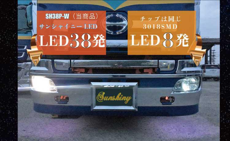 ヒノ トラック フソー 大型 比較LED球T10