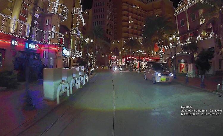 明るいSONY製STARVISセンサーの夜間映像